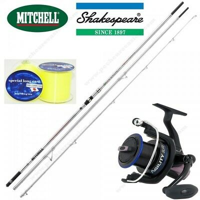 Combo Surfcasting, Canne Mitchell Powerback 4M50 + Moulinet Surf Agility 80 + Ny