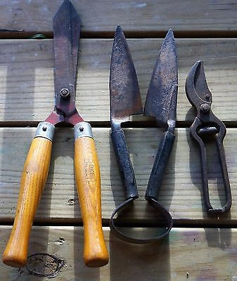 Vintage Yard Garden Tools Lot of 3 Boker/Hand Forged