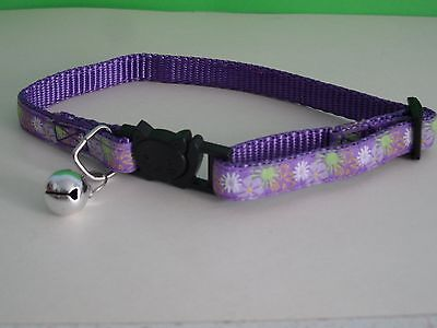 Purple Cat Collar, Cat Safety Collar with Bell, Quick Release Collar