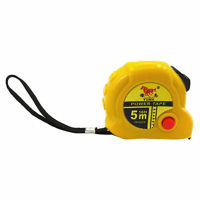 Steel Tape measure with Automatic retractor double Operation, Measuring 5m/16ft