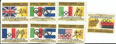 British Hondurus Mint Group Of 7  Olympic Postage Stamps