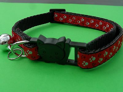 Red Cat Collar,Cat Safety Collar with Bell, Quick Release Collar