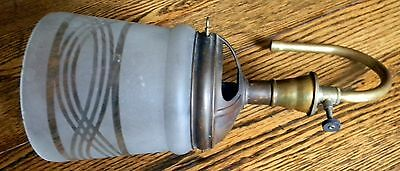 Antique Welsbach Gas Sconce Light Fixture Arm Part Unconverted