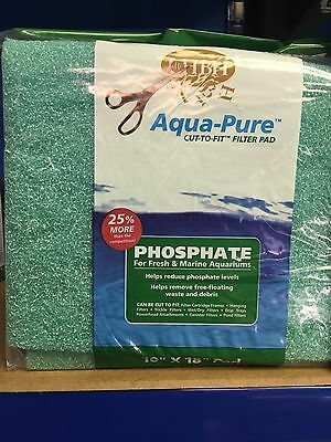 "HBH Phosphate Filter Pad, 18X10"", For All Aquarium Filters, Can Be Cut To Size"