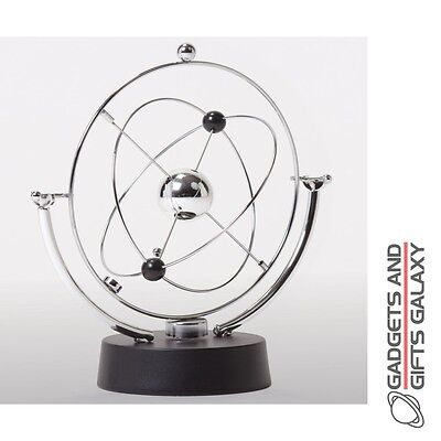 PLANET KINETIC MOBILE SILVER RINGS CENTRAL SPHERE desktop gadget toy gift adults