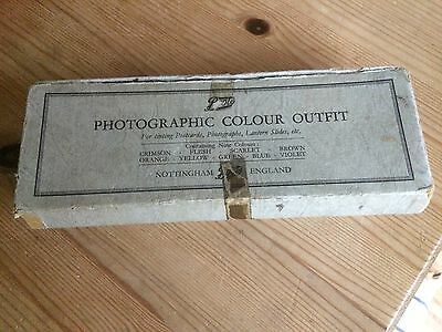 Boots Vintage Photographic Colour Outfit For Tinting Postcards, Photos, Slides