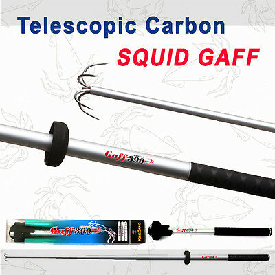 ***NEW Telescopic Carbon Squid Fishing Gaff Octopus Landing Hooks Fish Tackle