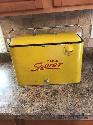 Vintage Squirt A4 Cooler!! Coca Cola 7Up Rare!!!! Nicest Example Ive Ever Seen!!