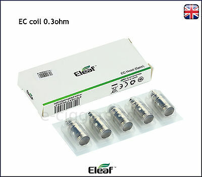 100% GENUINE NEW Eleaf EC coils 0.3ohm ijust2 ijustS melo3 and more box of 5