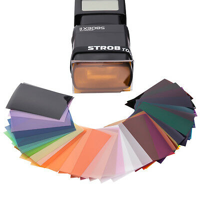 39 pcs Color Gels Filter Mega-Kit For Flash Speedlite Speedlight Strobist New