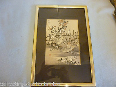 Chinese Watercolour  Painting  (Signed with artist Seal) Ducks
