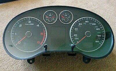 Audi A3 8P Instrument Cluster Diesel- White Dis Lcd - 8P0920983