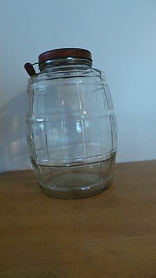 Vintage Armour's Star glass jar, container bail handle original lid