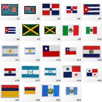 #3085R Small Tiny Nation Country Flag Embroidered Sew Iron on Patch Badge Hotfix