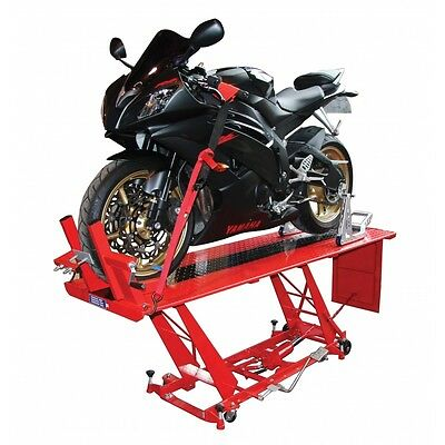 Hydraulic Motorcycle Workshop Table Lift Large Sized Work Bench Heavy Duty *NEW*