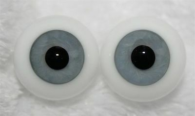 Reborn Dolls Real Glass Full Round Eyes, Color Grey Blue 20 Mm