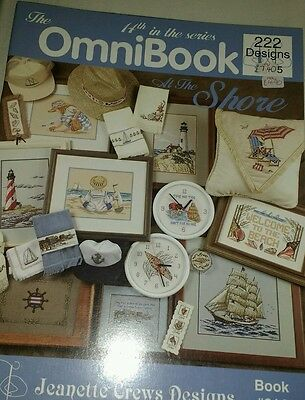 omnibook At the shore cross stitch chart book £3.50 OFF