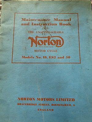 Norton Maintenance manual and instruction book
