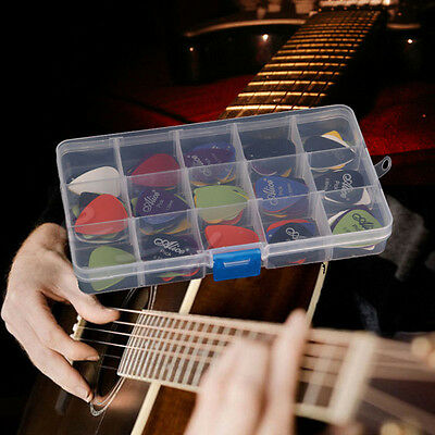 24-100X Acoustic Electric Guitar Picks Plectrum Various 6 thickness + Pick Box