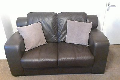 2 & 3 seater Brown Leather Settees