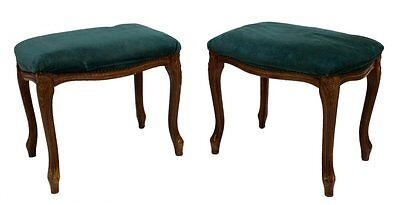 2 Antique Louis Xv Style Upholstered Foot Stools