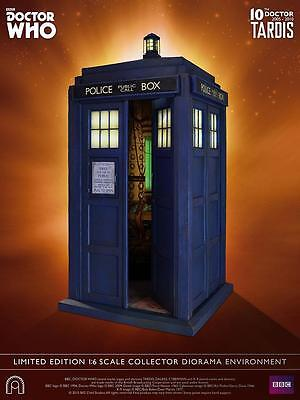 DOCTOR WHO Big Chief DLX 10th Doctor's TARDIS 1:6 DIORAMA Environment LTD #1000