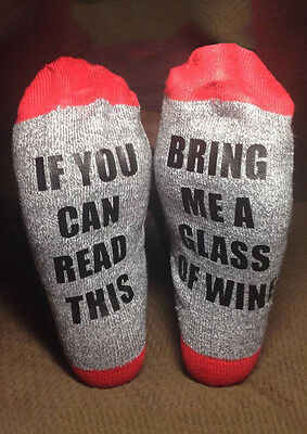 Xmas Unisex If You Can Read This Bring Me a Beer Sock Women's Men's Wine Socks