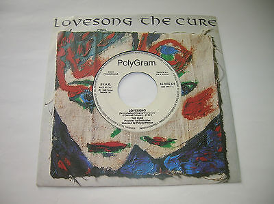"""The Cure /Lovesong -7""""megarare promo italy PolyGram 1989 Polydor Fiction Records"""