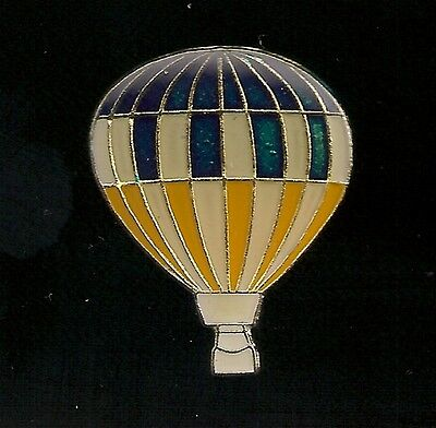 Vintage Blue /Gold Hot Air Balloon old enamel pin