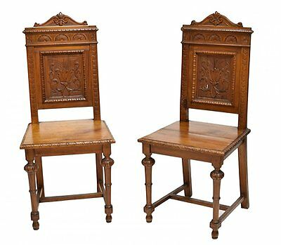 ITALIAN RENAISSANCE REVIVAL SIDE CHAIRS 19TH Century ( 1800s )