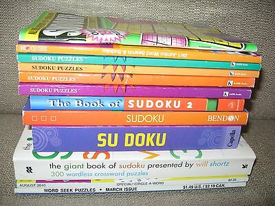 Huge Lot 12 (Unsolved) Puzzle Books (Train Your Brain And Become New Einstein)!