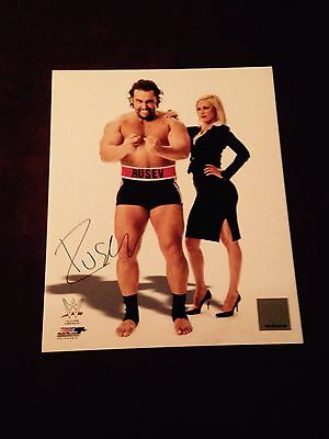 Wwe Rusev signed official promo rare with photo proof