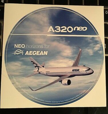 Airbus Industrie Sticker Neo Horizons for Aegean A320 neo
