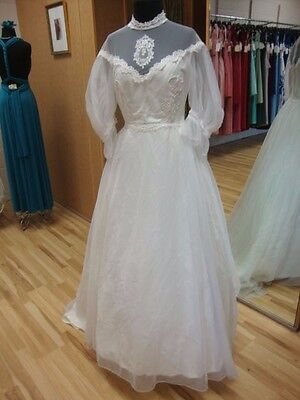 Vintage 70's Ivory Small Wedding Dresses Bridal Gown