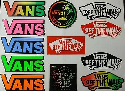 12 x Vans Shoes Stickers / Decals Skateboard Skate BMX Snowboard Surf Motocross