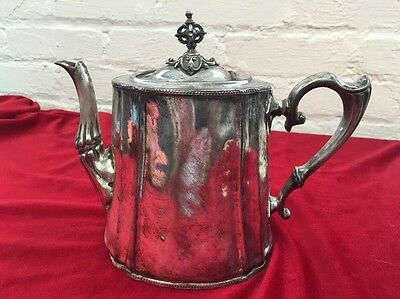 Vintage Silver Plate PHILIP ASHBERRY & SONS Teapot / Coffee Sheffield 5 29 F Lid