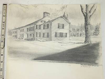 Organel Pencl Drawing House Architecture Historical Memorabilia