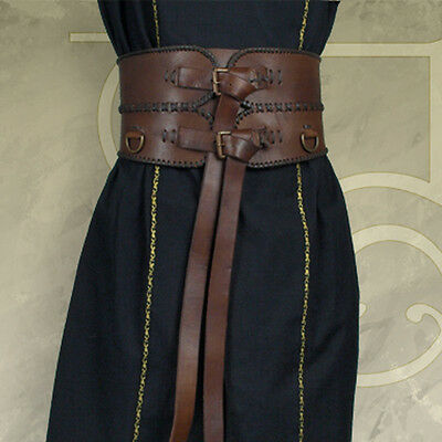 #61 Medieval / Aruthian Leather Broad Belt - Perfect For Re-enactment or LARP