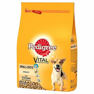 Pedigree Small Dog Complete Dry With Chicken & Vegetables 2.7kg Food