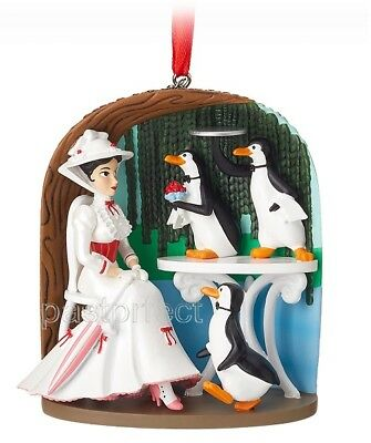 Disney Mary Poppins Jolly Holiday Sketchbook Xmas Ornament 2018 Penguins New Box