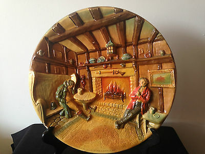 "Large Bossons "" An Old English Inn"" Collector Chalkware Plate"