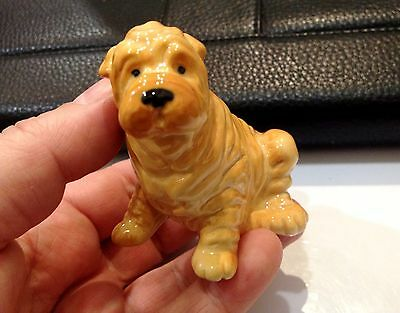 Shar Pei porcelain Dog figurine Souvenirs from Russia