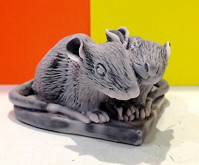 Rats figurine love heart marble chips handmade Souvenirs Russia small rodents