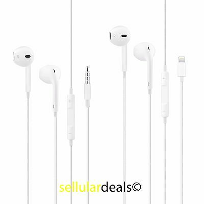 New Genuine OEM Apple iPhone 3.5mm OR Lightning EarPods Earbuds w/Mic Headset