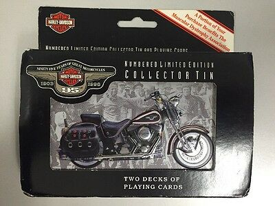 NEW Harley Davidson 95th Anniversary Collectable Tin With Playing Cards ,1998