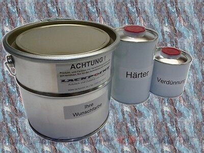 1,75 Liter Set 2K Car paint RAL 7021 Black grey Matte Acrylic Lackpoint Tuning