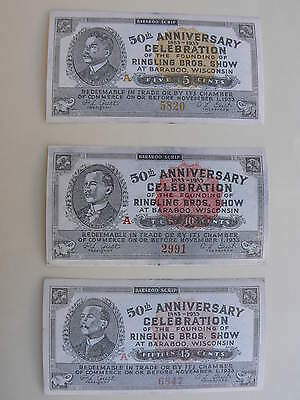 *In Stock, Ringling Bros. Barnum & Bailey Circus Rare One of a Kind Scrip!*