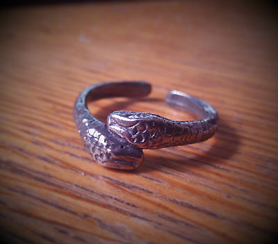 Roman Snake Ring Pewter