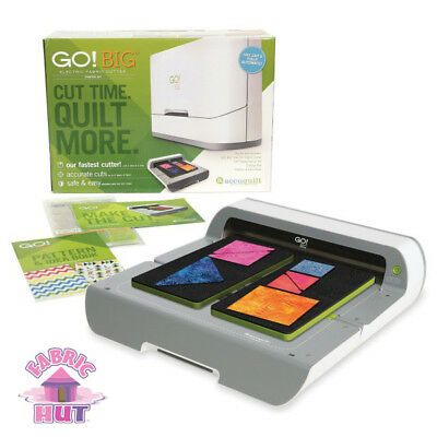55500- New Accuquilt GO! BIG Electric Fabric Cutter Quilt Making System In Stock