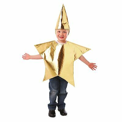 Gold Christmas Nativity North Star Tabard Fancy Dress Costume Age 3-5 Yrs School